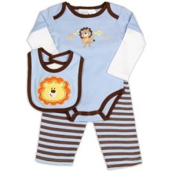 Kathy Ireland Designer Baby 3 Piece Lion Set Houston Kids Fashion Clothing The Woodlands Texas