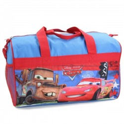 "Disney Cars Lightning McQueen and Mater 18"" Duffel Bag"