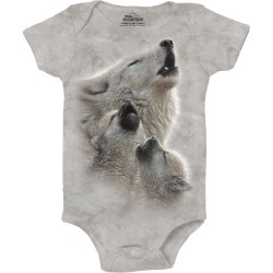The Mountain Artwear Singing Lesson Wolf Baby Onesie
