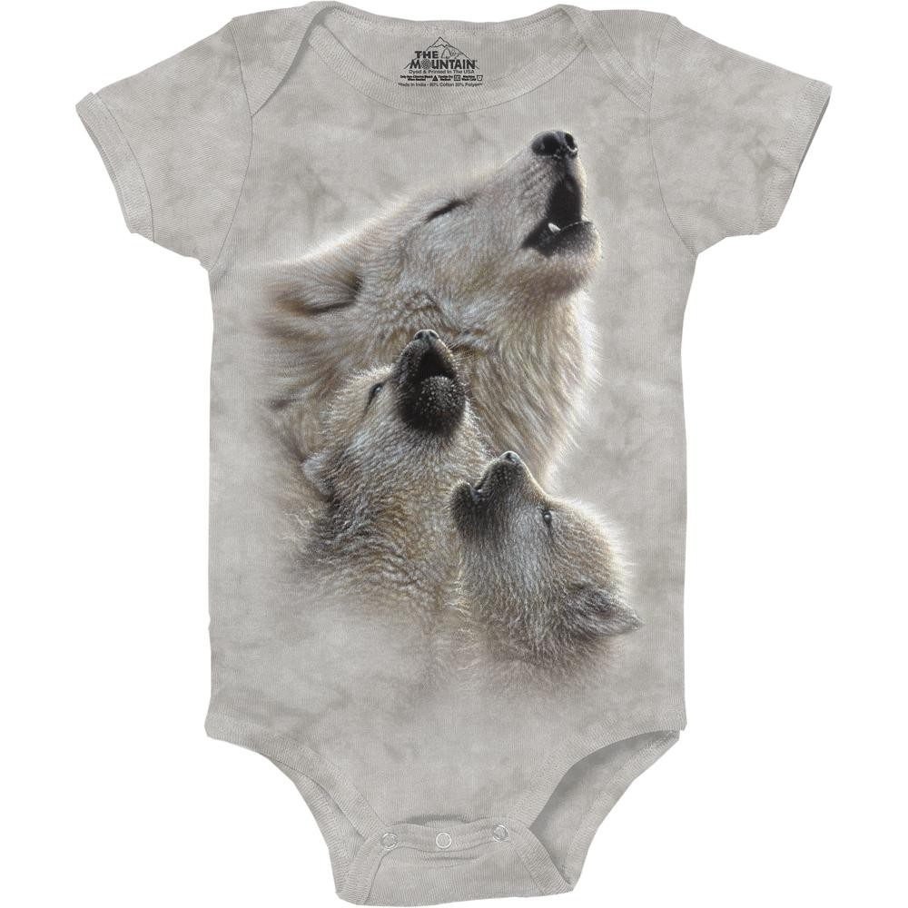 The Mountain Company Singing Lesson Wolf Baby Onesie