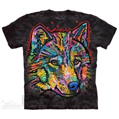 The Mountain Artwear Happy Wolf Short Sleeve Shirt Houston Kids Fashion Clothing Store