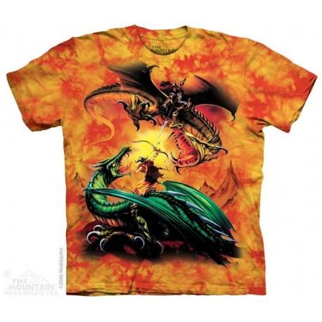 The Mountain Artwear The Dragon Duel Short Sleeve Shirt Houston Kids Fashion Clothing Store