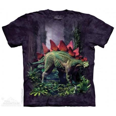 The Mountain Stegosaurus Short Sleeve Youth Shirt Houston Kids Fashion Clothing Store