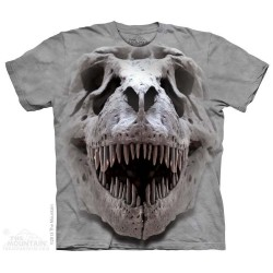 The Mountain Silver T Rex Skull Short Sleeve Youth Shirt Houston Kids Fashion Clothing Store