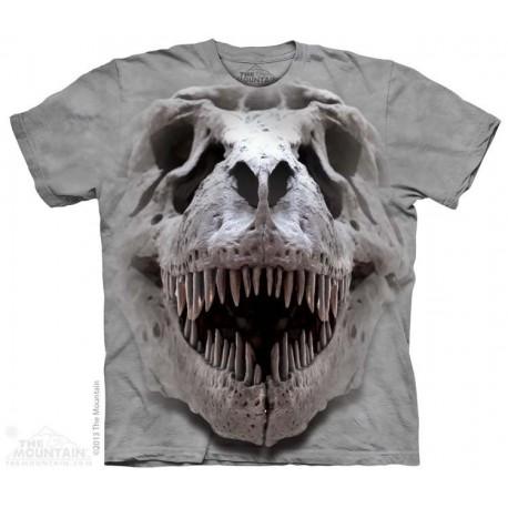 The Mountain Silver T Rex Skull Short Sleeve Youth Shirt Houston Kids Fashion Clothing Store