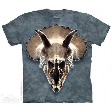 The Mountain Triceratops Skull Short Sleeve Youth Shirt Houston Kids Fashion Clothing Store