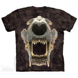 The Mountain Sabertooth Tiger Skull Short Sleeve Youth Shirt