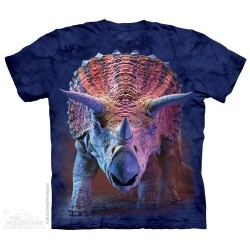 The Mountain Charging Triceratops Short Sleeve Youth Shirt Houston Kids Fashion Clothing Store