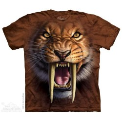 The Mountain Sabertooth Tiger Short Sleeve Youth Shirt
