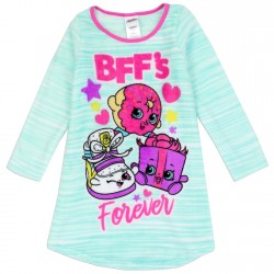 Shopkins Best Friends Forever Nightgown With Long Sleeves