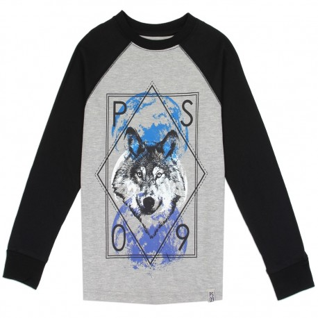 PS From Aeropostale Wolf Long Sleeve Boys Shirt Houstonn Kids Fashion Clothing Store