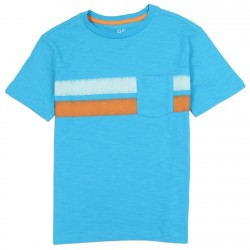 PS From Aeropostale Blue Pocket Tee With White Stripe