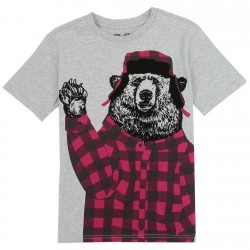 PS From Aeropostale Bear In Red Flannel Shirt And Hat Boys Shirt