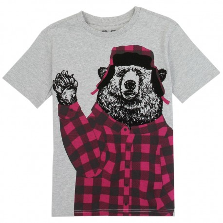 PS From Aeropostale Bear In Red Flannel Shirt And Hat Boys Shirt Houston Kids Fashion Clothing Store