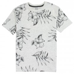 PS From Aeropostale Tropical Flower Boys Shirt