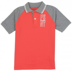 PS From Aeropostale PSNY Red Boys Polo Shirt