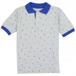 PS From Aeropostale Sailboats Boys Polo Shirt