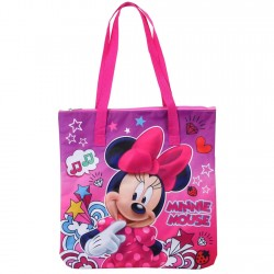 Disney Minnie Mouse Pink Zippered Tote Bag