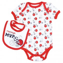 Weeplay Mommy's MVP Bib And Onesie Set Houston Kids Fashion Clothing Store