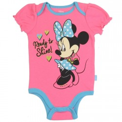 Disney Minnie Mouse Ready To Shine Pink Infant Girls Onesie Houston Kids Fashion Clothing Store
