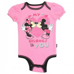 Disney Minnie Mouse My Heart Belongs To You Pink Infant Girls Onesie Houston Kids Fashion Clothing Store