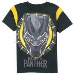 Marvel Comics Black Panther Black Short Sleeve Boys Shirt Houston Kids Fashion Clothing