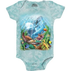The Mountain Sea Villians Baby Onesie