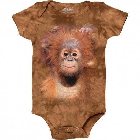 The Mountain Orangutan Hang Baby Brown Baby Onesie