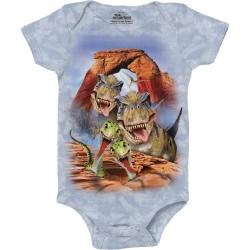 The Mountain Dino Selfie Baby Onesie Free Shipping Houston Kids Fashion Clothing Store