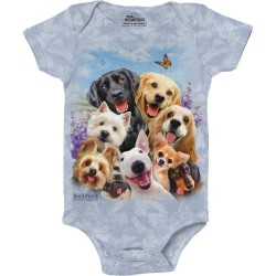 The Mountain Dog Selfie Baby Onesie Free Shipping Houston Kids Fashion Clothing