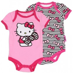 Hello Kitty Pink Creeper And Black And White Creeper 2 Pc Set
