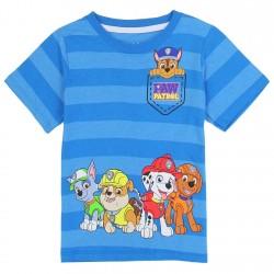 Nick Jr Paw Patrol Two Tone Blue Striped Toddler Boys Shirt