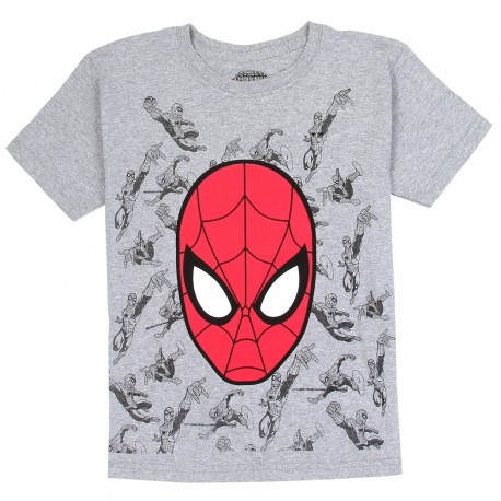 Marvel Comics Spider Man Grey Boys Shirt With Red Spidey Mask Free Shipping Houston Kids Fashion Clothing Store