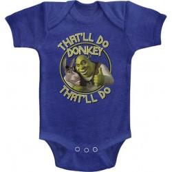 262133575 Dreamworks Shrek That'll Do Donkey That'll Do Baby Boys Onesie Free Shipping