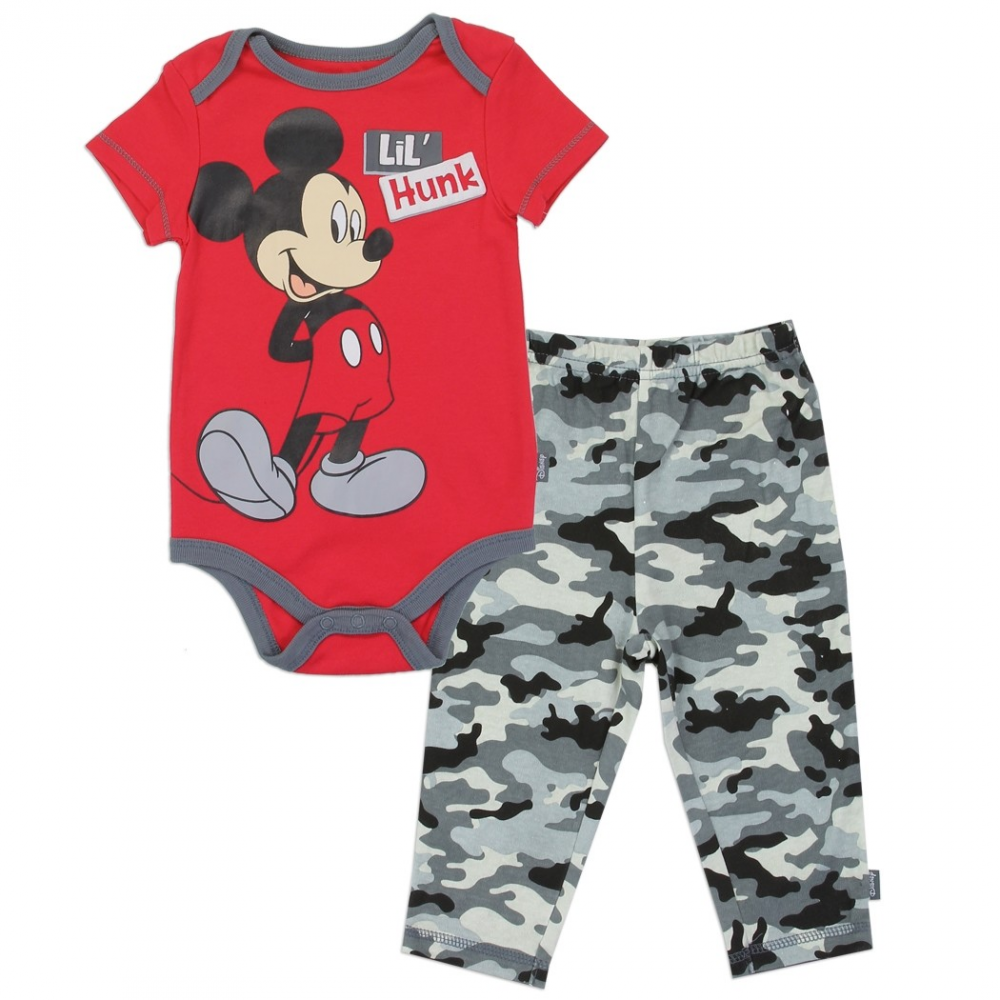 fef4898278c43 Disney Mickey Mouse Lil Hunk Onesie And Pants Set Free Shipping Houston  Kids Fashion Clothing Store. Loading zoom