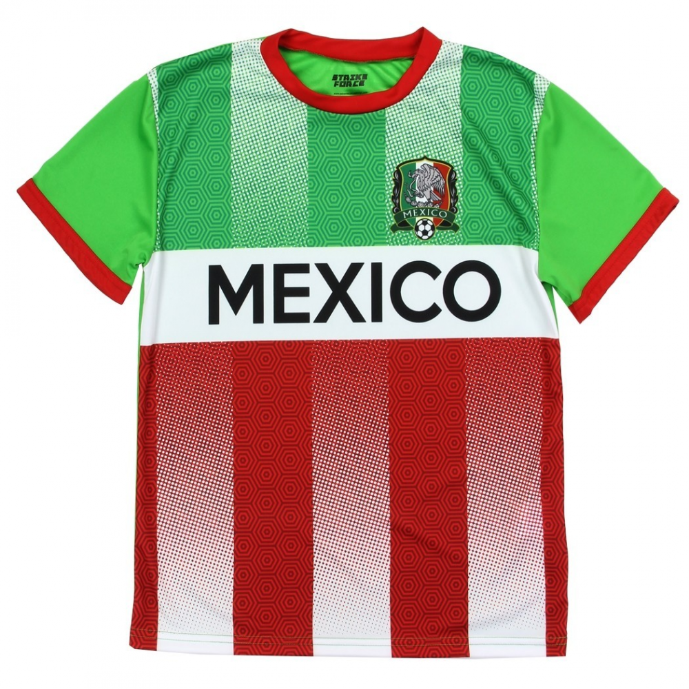0141708bb Strike Force Mexico Boys Soccer Jersey Top Free Shipping On Futbol Jersey  Houston Kids Fashion Clothing. Loading zoom