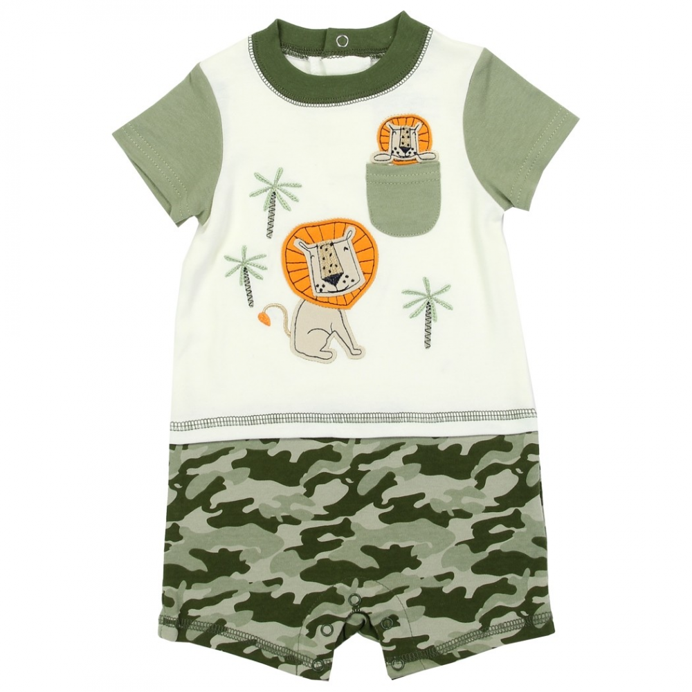 673559500ff7 Buster Brown Baby Boys Lion And Cub Romper Free Shipping