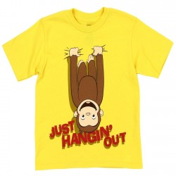 2133a30f44eab2 Curious George Just Hangin Out Toddler... Just Hangin Out Curious George  Toddler Boys Shirt Color Yellow ...