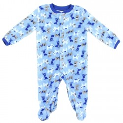 bb221311f1 Weeplay Newborn Baby Boys Puppy Dogs Microfleece Footed Sleeper Free  Shipping Houston Kids Fashon Clothing