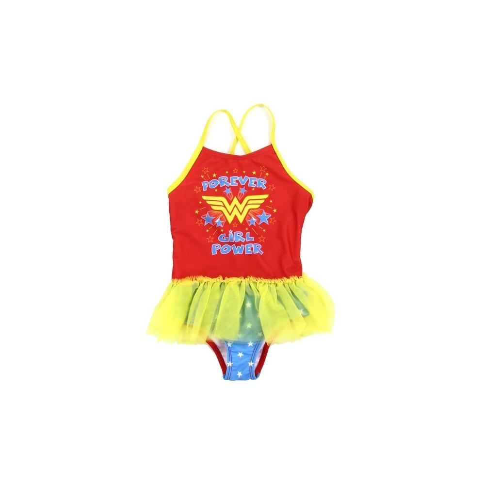 0fe456621edec DC Comics Wonder Woman Forever Girl Power Toddler Girls Swimsuit. Loading  zoom
