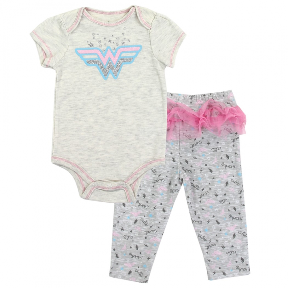 9ed2bcf58 DC Comics Wonder Woman Baby Girls Pants Set Free Shipping Houston Kids  Fashion Clothing Store. Loading zoom