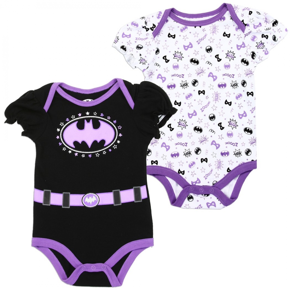 38fc0347f DC Comics Batgirl Baby Girls Onesie Set Free Shipping Houston Kids Fashion  Clothing Store. Loading zoom