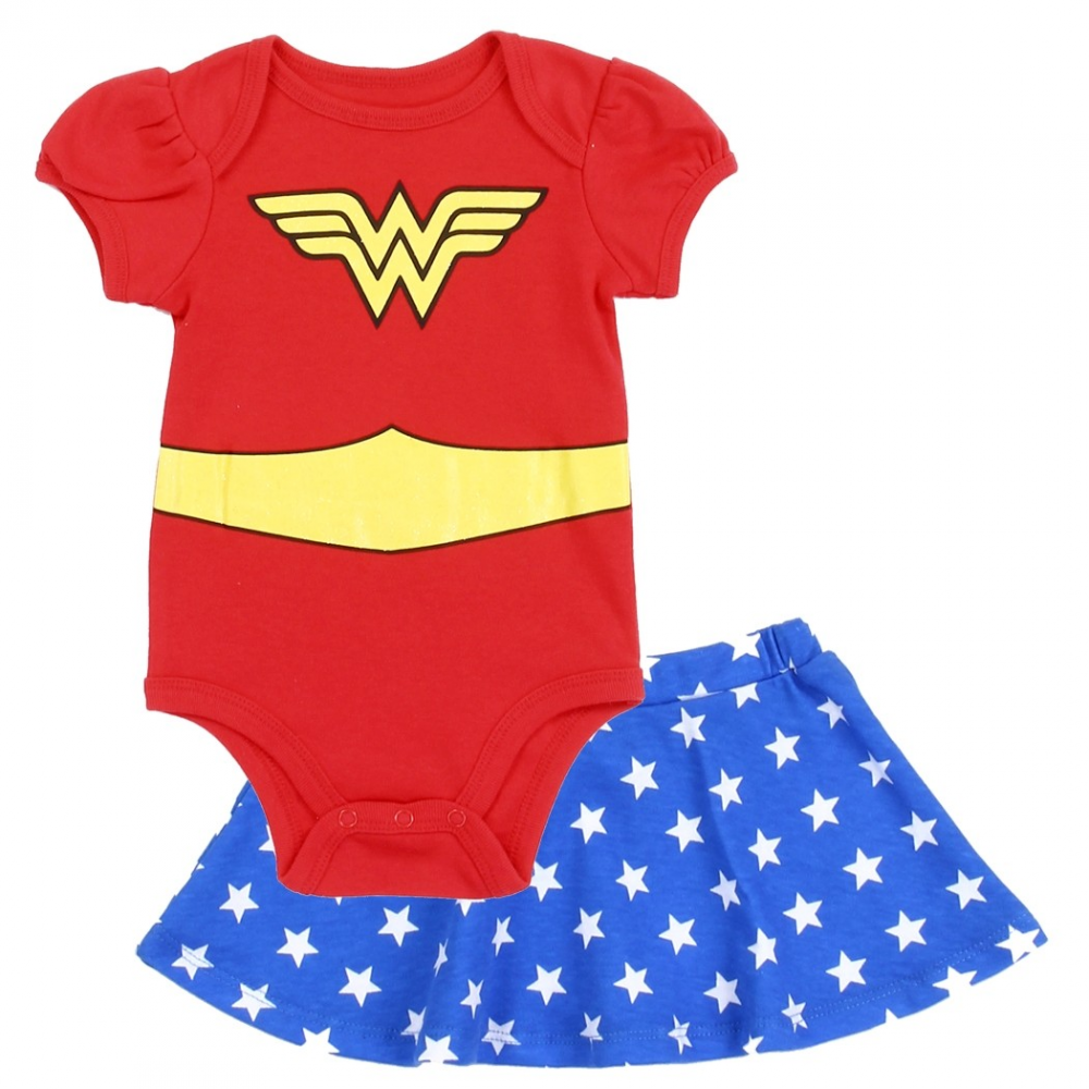 b27f78c63 DC Comics Wonder Woman Baby Girls Onesie And Skirt Set Free Shipping  houston Kids Fashion Clothing. Loading zoom