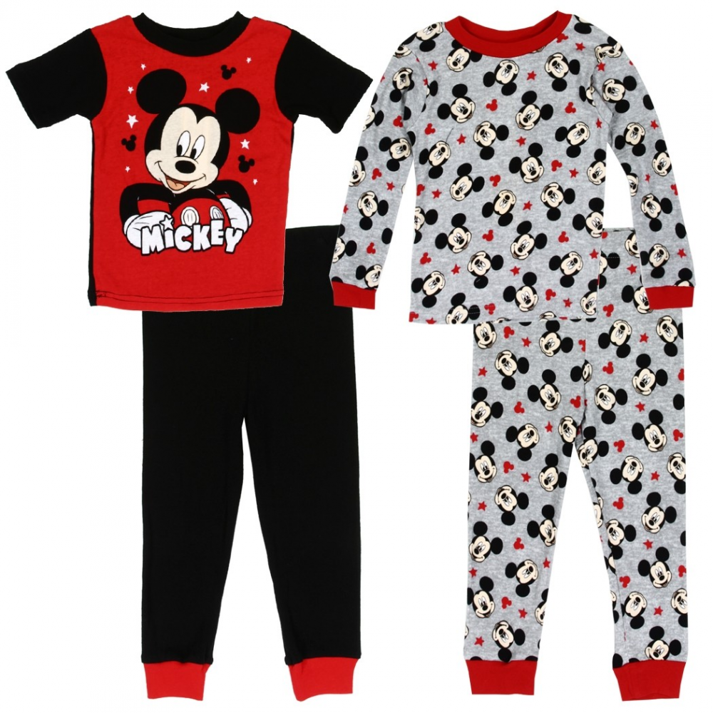 Disney Mickey Mouse Toddler Boy Long Sleeve Christmas Pajamas New 3T