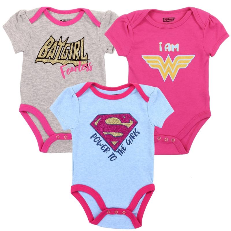 DC Comics Toddler Girls 4-Pack T-Shirts Batgirl Supergirl Wonder Woman