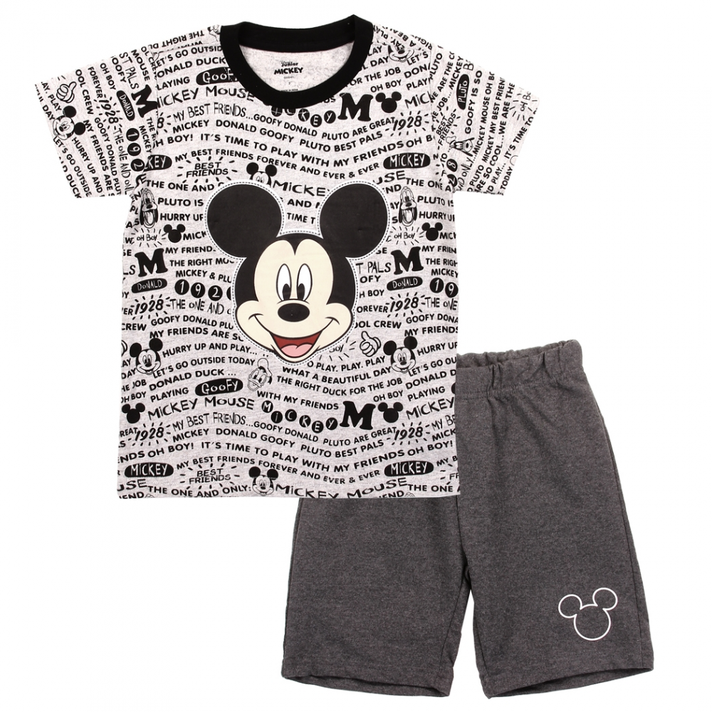 SHIRT SHIPS FREE! MICKEY MOUSE OUTFIT NWT SIZE 4T DISNEY RED PLAID SHORTS