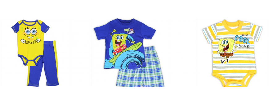 Nick Jr Sponge Bob Boys Clothes