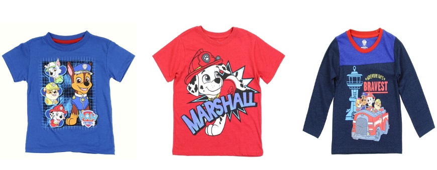 Nick Jr Paw Patrol Boys Clothes