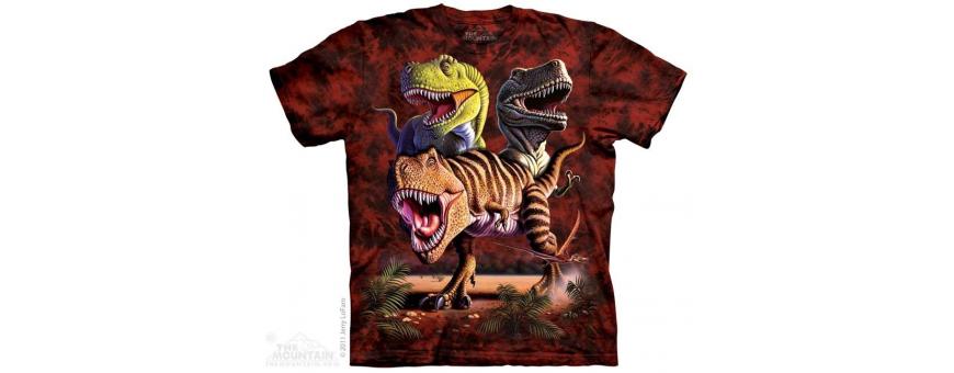 The Mountain Artwear Dinosaur Boys Shirts