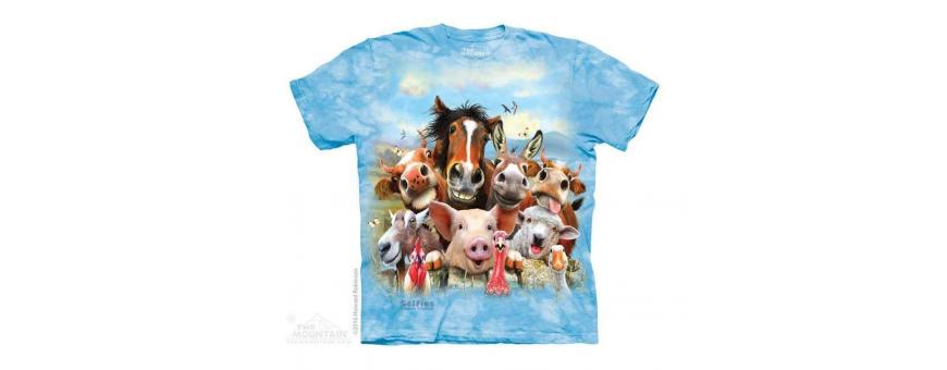 The Mountain Artwear Farm Animals Boys Shirts